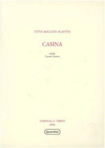 Foto Cover di Casina, Libro di T. Maccio Plauto, edito da Quattroventi