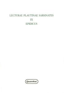 Libro Lecturae Plautinae sarsinates. Vol. 9: Edipicus.
