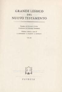Grande lessico del Nuovo Testamento. Vol. 3