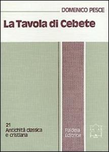 Libro La tavola di Cebete Domenico Pesce
