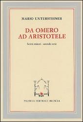Da Omero ad Aristotele. Scritti minori. Seconda serie