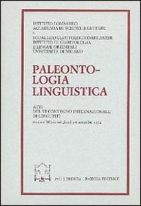 Libro Paleontologia linguistica. Atti del 6º Convegno internazionale di linguisti