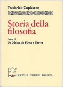 Libro Storia della filosofia. Vol. 9: Da Maine de Biran a Sartre. Frederick Copleston