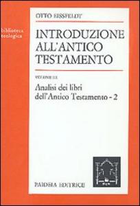 Libro Introduzione all'Antico Testamento. Vol. 3: Analisi dei libri dell'antico Testamento. Otto Eissfeldt