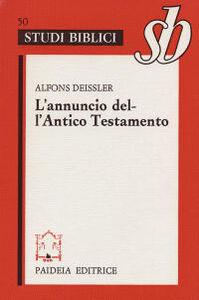 Libro L' annuncio dell'Antico Testamento Alfons Deissler