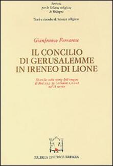 Il concilio di Gerusalemme in Ireneo di Lione