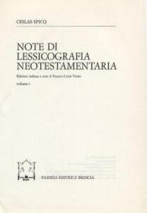 Note di lessicografia neotestamentaria. Vol. 1