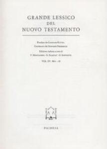 Grande lessico del Nuovo Testamento. Vol. 15