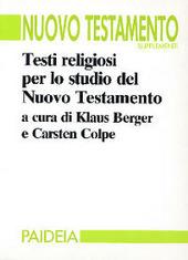 Testi religiosi per lo studio del Nuovo Testamento