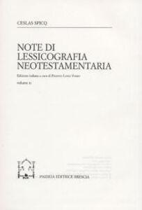Foto Cover di Note di lessicografia neotestamentaria. Vol. 2, Libro di Ceslas Spicq, edito da Paideia