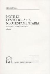 Note di lessicografia neotestamentaria. Vol. 2