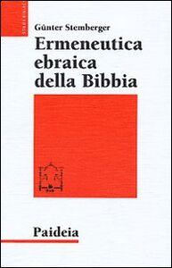 Libro Ermeneutica ebraica della Bibbia Günter Stemberger