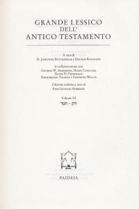 Grande lessico dell'Antico Testamento. Vol. 3: Hmr-Jaraq.