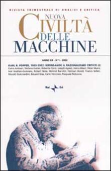 Listadelpopolo.it Nuova Civiltà delle Macchine (2002). Vol. 1: Karl R. Popper, 1902-2002: ripensando il razionalismo critico. Image