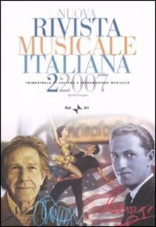 Birrafraitrulli.it Nuova rivista musicale italiana (2007). Vol. 2 Image