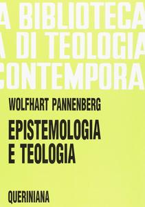 Libro Epistemologia e teologia Wolfhart Pannenberg