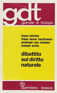Libro Dibattito sul diritto naturale