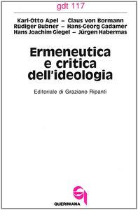 Libro Ermeneutica e critica dell'ideologia Karl Otto Apel , Hans G. Gadamer , Jürgen Habermas