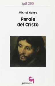 Libro Parole del Cristo Michel Henry