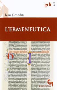 Libro L' ermeneutica Jean Grondin