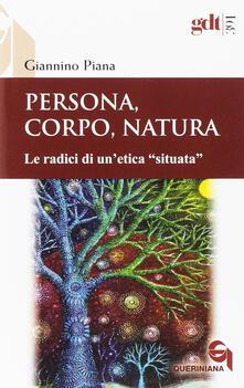 Ristorantezintonio.it Persona, corpo, natura. Le radici di un'etica «situata» Image