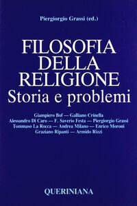 Libro Filosofia della religione. Storia e problemi