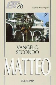 Libro Vangelo secondo Matteo Daniel J. Harrington