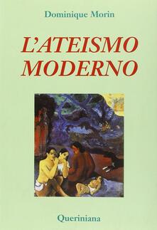 L' ateismo moderno - Dominique Morin - copertina