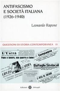 Antifascismo e società italiana (1926-1940)