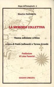 Libro La memoria collettiva Maurice Halbwachs