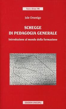 Chievoveronavalpo.it Schegge di pedagogia generale. Introduzione al mondo della formazione Image
