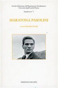 Foto Cover di Maratona Pasolini, Libro di  edito da Unicopli