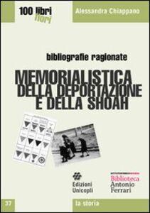 Libro Memorialistica della deportazione e della shoah Alessandra Chiappano