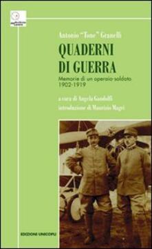Vitalitart.it Quaderni di guerra. Memorie di un operaio-soldato 1902-1919 Image