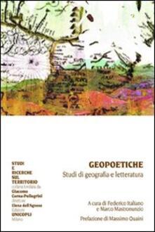 Geopoetiche. Studi di geografia e letteratura - copertina