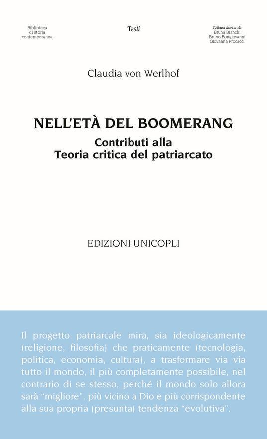 Nell'età del boomerang. Contributi alla teoria del patriarcato - Claudia von Werlhof - copertina