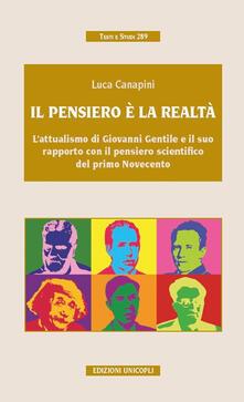 Pensiero e realtà - Luca Canapini - copertina