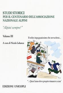 Voluntariadobaleares2014.es Studi storici nel centenario dell'Associazione Nazionale Alpini. Vol. 3: Alpini sempre!. Image