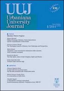 Libro Urbaniana University Journal. Euntes Docete (2014). Vol. 1: Missione: work in progress. Carmelo Dotolo