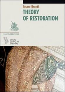 Theory of Restoration - Cesare Brandi - copertina