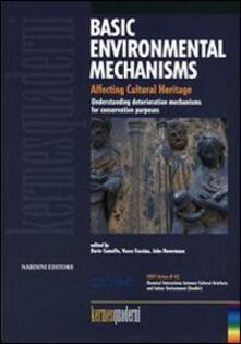Basic environmental mechanism. Affecting cultural heritage - copertina
