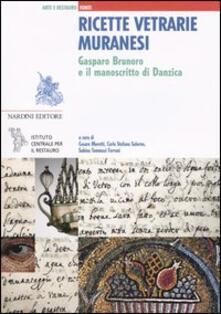 Ricette vetrarie muranesi. Gasparo Brunoro e il manoscritto di Danzica - copertina