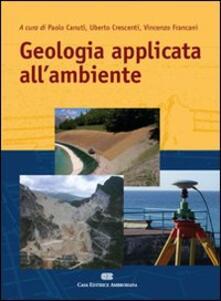 Geologia applicata all'ambiente - Vincenzo Francani - copertina