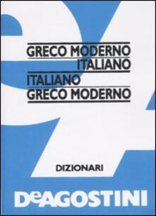 Greco moderno-italiano, italiano-greco moderno - copertina