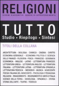 Foto Cover di Tutto religioni, Libro di  edito da De Agostini