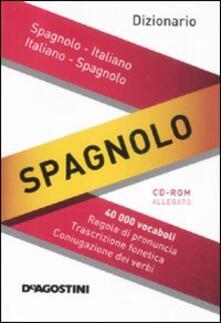 Daddyswing.es Dizionario spagnolo. Italiano-spagnolo, spagnolo-italiano. Con CD-ROM Image