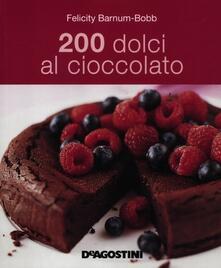 200 dolci al cioccolato - Felicity Barnum-Bobb - copertina
