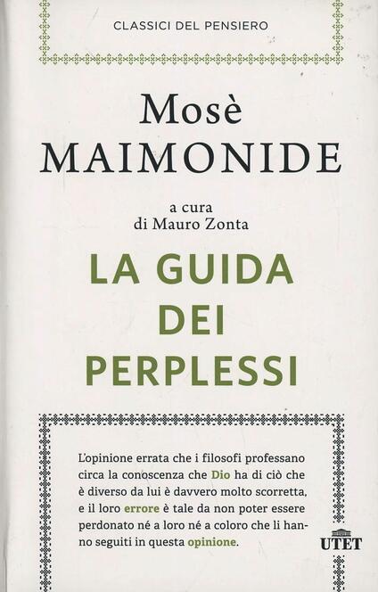 La guida dei perplessi - Mosè Maimonide - copertina