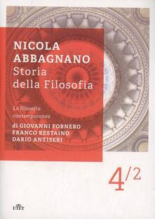 Storia della filosofia. Vol. 4\2: La filosofia contemporanea. - Nicola Abbagnano - copertina