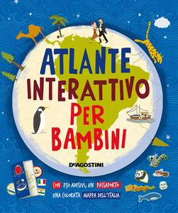 Libro Atlante interattivo per bambini. Con adesivi Jenny Slater
